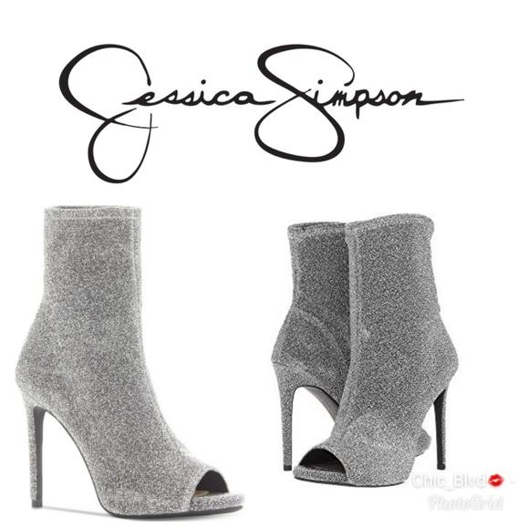 Silver Jessica Simpson Rainer Peep Toe
